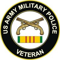 "Army Military Police Vietnam Veteran 5.5"" Window Sticker  'Officially Licensed'"