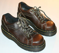 Pre-Worn Unisex Doc Martens Brown Lace-Up Casual Oxfords UK sz 5, M 6, W 7
