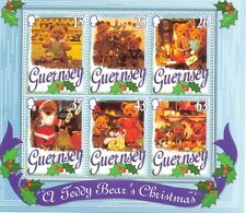 Guernsey-Christmas min sheet 1997 mnh-Teddies