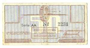 Netherlands SS Camp Westerbork 50 Cent 1944 VF RARE