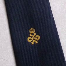 TOOTAL NECKTIE QUEEN'S AWARD EXPORT LOGO TIE VINTAGE CLUB ASSOCIATION 1980s NAVY