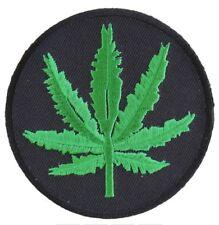 Marijuana Leaf Patch Embroidered Iron On Biker Skater Weed Mary Jane Hemp