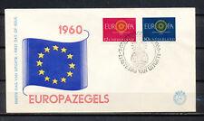 FDC E-45 EUROPA CEPT 1960 ONBESCHREVEN MET OPEN KLEP                        CT3