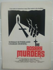 THE ROSARY MURDERS 1987 press card Donald Sutherland