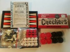 Vintage Woolworth Checkers Travel Backgammon Sealed