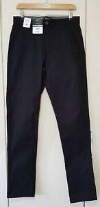 Burton Menswear Slim Black Trousers Size 30 L, Smart Formal, Brand New with tags