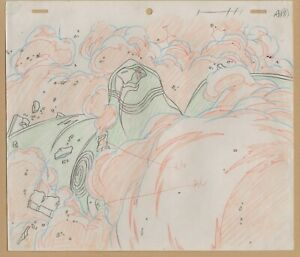 Neo Ranga Prod Sketch of Title Character eye amidst explosion!  1994 A18 cel