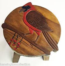 Footstools - Cardinal Wooden Footstool - Cardinal Foot Stool - Bird Footstool