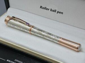 Luxury MB Rollerball pen Silver carving Diamond Monaco Grace kelly Gift