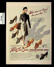 1942 Red Cross Shoe Demonstration Week Vintage Print ad 8620