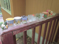 Candle Holders Vintage Votive Tealight Ceramic Glass Wood Terra Cotta Lot of 13