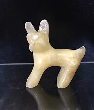 """Carved Stone/Marble/Alabaster Animal """"Cat"""""""