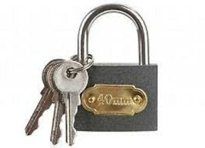 Cast Iron padlock, supplied with 3 keys commonly used with sheds lockers luggage