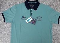Paul Shark Herren Polo-Shirt Grün Gr XL