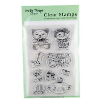 Clear Stamps New Baby Teddy Rag Doll Toys Giraffe Pretty Things London Stamp Set