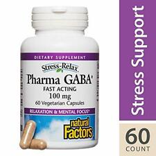 Stress-Relax Pharma GABA 100 mg by Natural Factors, Non-Drowsy Stress Support fo
