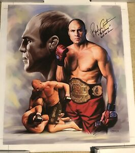 Randy Couture Autographed Canvas Print