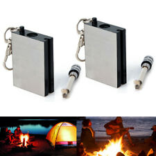 Lighter Flint Magnesium Emergency Fire Starter Camp Survival Metal Waterproof