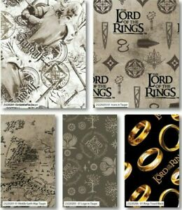 LORD OF THE RINGS COTTON FABRIC - GREAT DESIGNS BY CAMELOT