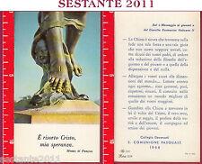 355 SANTINO HOLY CARD PASQUA 1966 CRISTO è RISORTO COLLEGIO DAVANZATI 1966