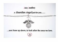 Silver Stardust Crystal Guardian Angel Necklace Christmas Bridesmaid Birthday UK