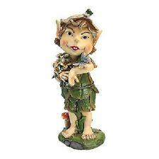"12.5"" Pixie Perry Elfin Gnome Statue Outdoor Decor Figurine Figure Elf"