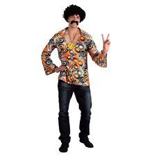 Mens Groovy Hippie Shirt Adult 70's Large Fancy Dress 1970s Hippy Costume