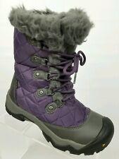 Keen Sunriver Womens Winter Boots Waterproof Insulated Purple Faux Fur Sz 6