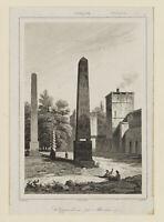 CHOLET; nach VORMISER, Hippodrom mit Obelisken. Istanbul, 19. Jh., Stahl
