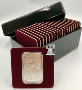 Air-tite Storage Box + Coin Holder Card for 20 Silver 1oz Bar + Capsule Case