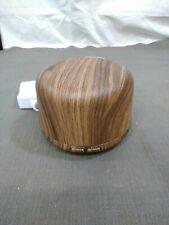 Aromatherapy Essential Oil diffuser multicolor light up mist wood grain 300ml