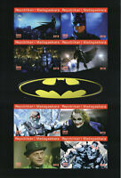 Madagascar 2019 MNH Batman Joker Riddler 8v IMPF M/S Comics Superheroes Stamps
