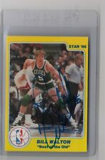 AUTOGRAPHED 1986 Star #8 BILL WALTON - Best of the Old / New