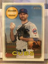 2018 Topps Heritage High Number #724 Brandon Morrow 100th Anniversary Stamp #/25