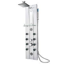 Panel de ducha aluminio grifería con grifo mano cabezal efecto lluvia masaje set
