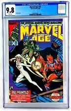 Marvel Age #25 CGC 9.8 1985 Rocket Raccoon Cloak &Dagger Guardians of the Galaxy