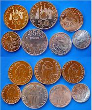NEW CALEDONIA  2008-20011  SET 7 PZ  100-50-20-10-5-2-1 FRANCS FDC UNC