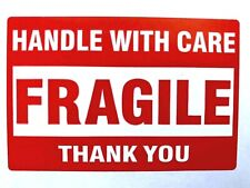 50 Fragile Handle With Care Stickers 2 X 3� Shipping Mailing & Packaging Labels