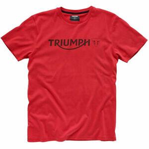 TRIUMPH RED LOGO T-SHIRT SIZE LARGE