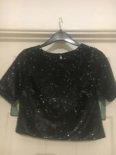Women's Topshop Sequin Top Size 8 very sparkly