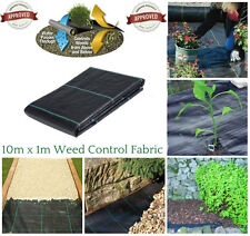 10m x 1m Heavy Duty Weed Control Woven Fabric Ground Cover Mulch Membrane Mat
