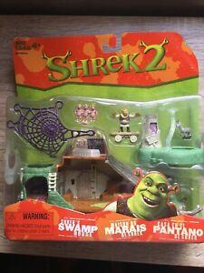 Shrek 2 Shrek's swamp house Play Set w/ mini figures Hasbro 2003 sealed