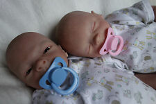 Beautiful Reborn baby twins David and Evi Drew and Faith kits by Heather Boneham