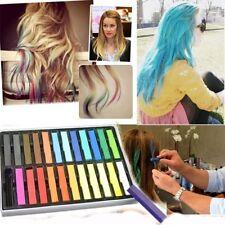 24 Quality Artist Non Toxic Colour Soft Temporary Hair Chalks Pastels Dye Die