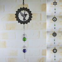 Metal Wind Spinner Hanging Garden Wind Spinner/3D Twisting Yard Ornaments Gift