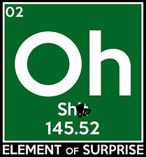 OH S**T 145.52 PERIODIC TABLE DECAL 3X3""