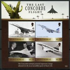 Montserrat 2018 MNH Concorde Last Flight 4v M/S Airplanes Aviation Stamps