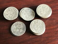 More details for 26 x king george v silver threepence 3d coins between 1915 & 1919