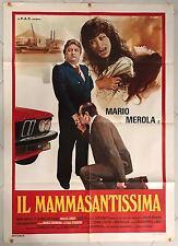 MANIFESTO ORIGINALE 2F  IL  MAMMASANTISSIMA  MARIO MEROLA NAPOLI AUTO CAR