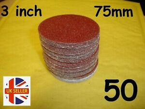 "75mm - 3""  3 inch Sanding Discs 40 60 80 120 180 240 320 400 800 1000 grit Pads"